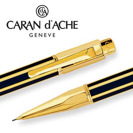 CARAN d'ACHE 瑞士卡達 VARIUS 維樂斯中國漆自動鉛筆(黑)金 0.7 / 支