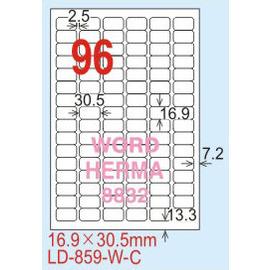 【龍德】LD-859(圓角) 透明三用標籤(可列印) 16.9x30.5mm 5大張/包