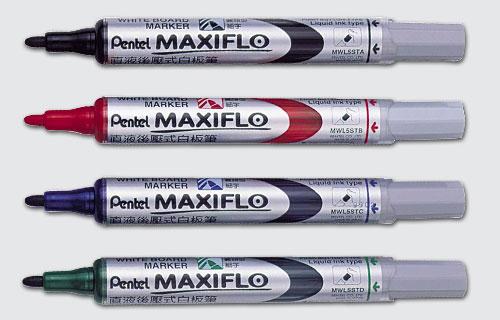 【Pentel飛龍】MWL5S直液後壓式白板筆(細字) / 支