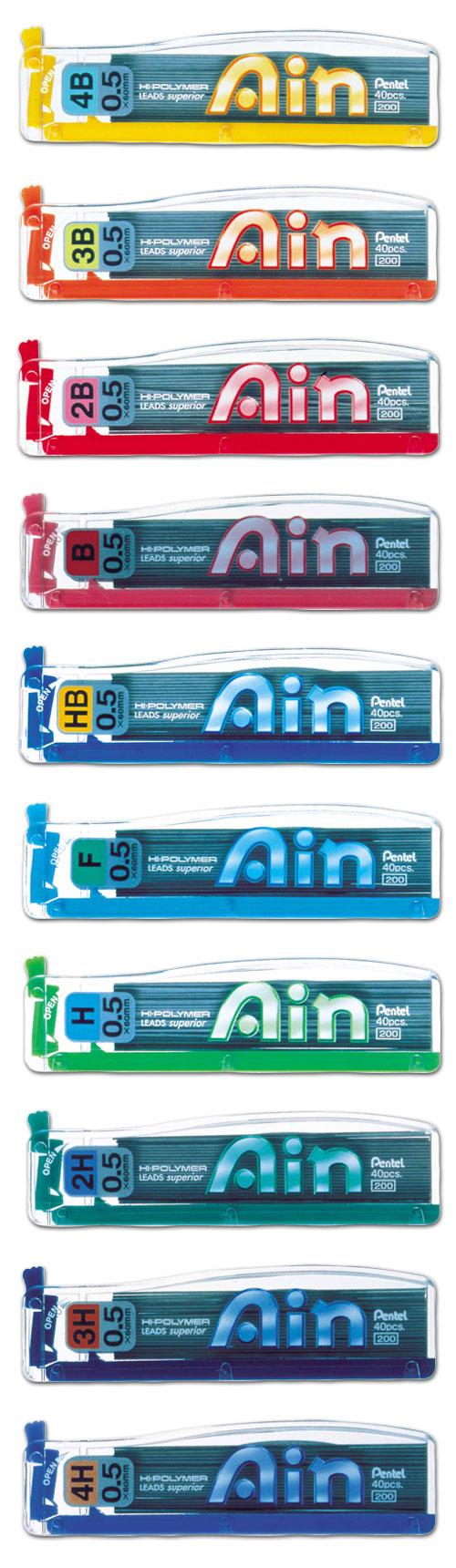 【Pentel飛龍】C255 AIN系列鉛筆芯0.5mm