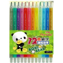 筆樂12色細字PG9552旋轉蠟筆/盒