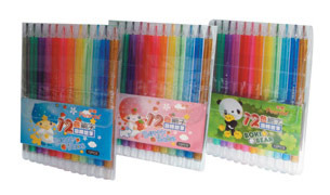 筆樂 Penrote PG9552 卡通系列 12色細字旋轉蠟筆 (款式隨機出貨) / 套