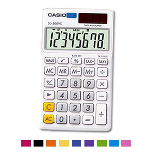 【破盤價】CASIO 卡西歐 SL-300VC 亮彩系列計算機 (顏色隨機出貨) / 台
