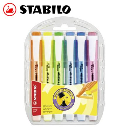 STABILO 德國天鵝 swing cool 螢光筆(275/6) 6色 / 盒