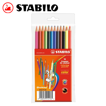 STABILO 德國天鵝 Color 系列六角形色鉛筆(1212/77-01) 12色 / 盒