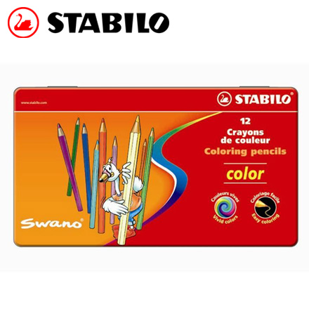 STABILO 德國天鵝 Color 系列六角形色鉛筆(1812/77) 12色 / 盒