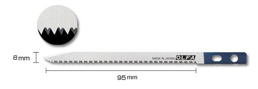 【永昌文具】OLFA CS-5 刀鋸兩用刀備用鋸片 SWB-5/1B (日本型號 XB217) 1片 / 包
