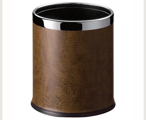 C45S-21 黃褐色人造皮 圓型雙層桶 / 個
