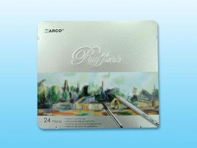 【萬事捷】4531 24色 鐵盒裝水溶彩色鉛筆