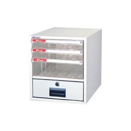 樹德 A4-104K 單排30cm高 桌上型資料櫃(透明抽)