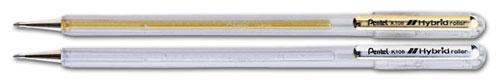 【Pentel飛龍】K108  0.8mm 金.銀.白中性筆    / 支