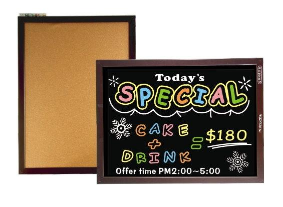 【成功success】015210A雙面木框軟木鏡面黑板(中)