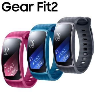Samsung Gear Fit2 SM-R360 GPS藍芽智慧手環 紅/藍/灰 三色款 任何 Android 4.4以上手機配對使用