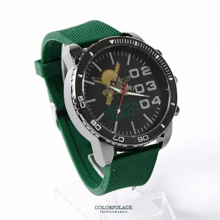One Piece 海賊王 俏皮索隆圖案搭配綠色錶帶手錶 送禮/珍藏首選 柒彩年代【NE1744】原廠平行輸入