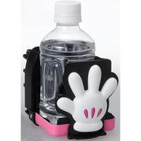 『日本代購品』 米妮款 推車用飲料杯架 保特瓶放置架 奶瓶架 推車杯架