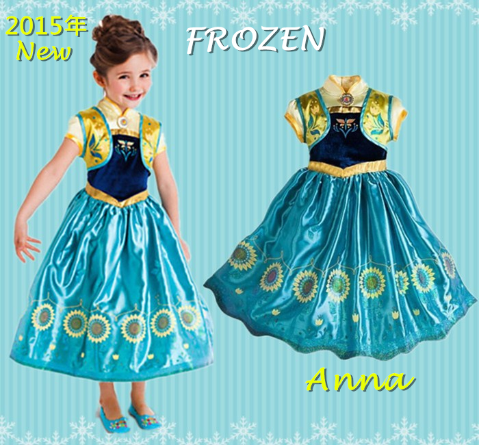 【貝貝樂SHOW】2015年新版最IN 冰雪奇緣~Anna安娜公主~背心+洋裝長裙(兩件式)