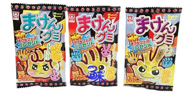 (日本) 杉本屋 魔劍軟糖-汽水味 (剪刀 石頭 布 橡皮糖 )1組3包 (15公克*3包) 特價 74 元【 4901818155073】