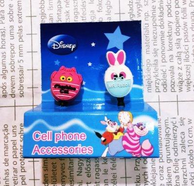 【真愛日本】12120500011 2入耳機孔塞--妙妙貓&兔子 迪士尼 愛麗絲夢遊仙境 耳機孔塞 手機裝飾