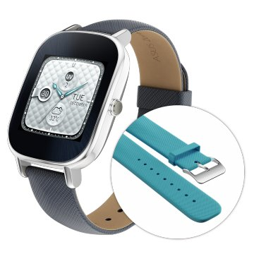 ASUS ZenWatch2 智慧助理 行動腕美 快充進化版-有氧清新藍(18mm 附伯爵藍悠遊卡錶帶)