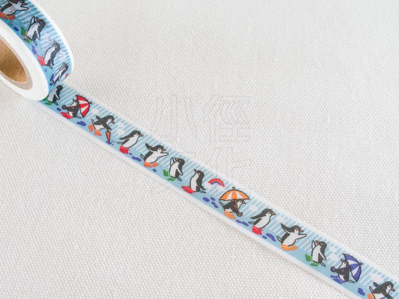 *小徑文化*日本進口 tsutsumu 和紙膠帶 - 行進的企鵝 ( M-0104 )