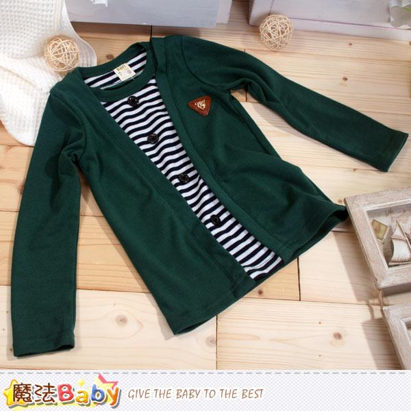 男童假兩件針織上衣 魔法Baby~k42572