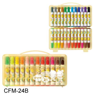 【雄獅 SIMBALION 彩色筆】CFM-24B 功夫鴨彩色筆 (24色)-外盒圖案隨機出貨