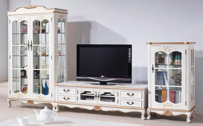 【尚品傢俱】HY-A295-04 伊麗莎白歐式10.4尺高低櫃