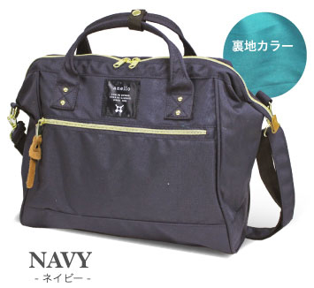 【真愛日本】16042200094anello潮流兩用手提側背包L-藍    ANELLO 公事包   包包 提包