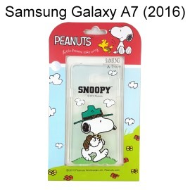 SNOOPY 史努比透明軟殼 [踏青] Samsung A710Y Galaxy A7 (2016)【台灣正版授權】