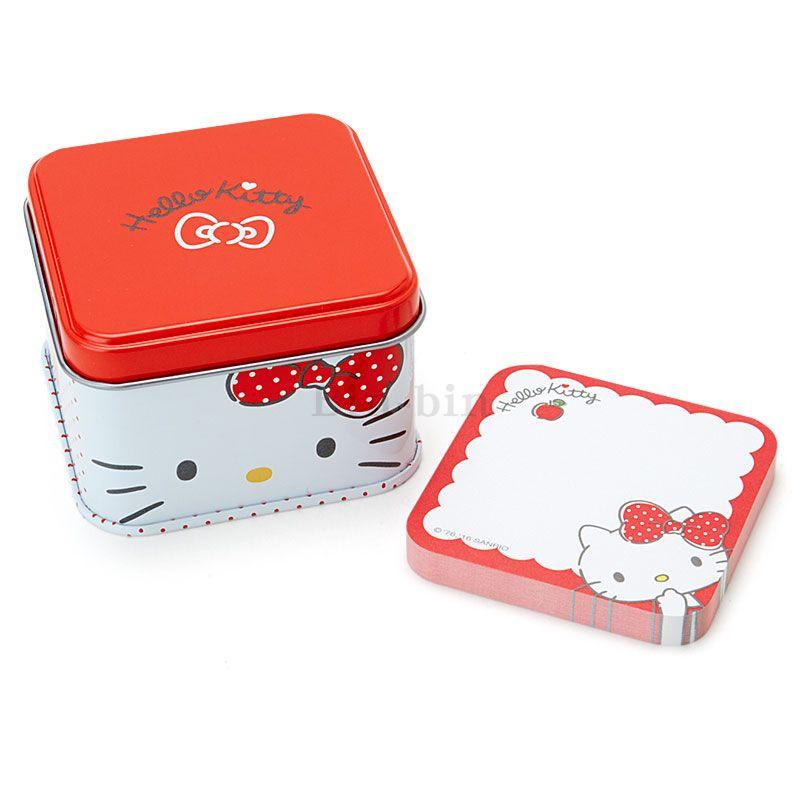 Hello Kitty 鐵盒便條紙/N-1602-672530