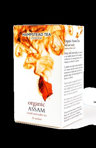 有機阿薩姆紅茶~英國倫敦漢普斯敦原裝進口有機紅茶  阿薩姆紅茶(25袋/盒)~口味濃郁,適合添加鮮乳  來自印度大吉嶺地區歷史最悠久的馬卡巴力莊園