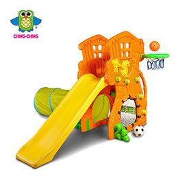 【淘氣寶寶】【CHING-CHING親親】樹屋溜滑梯+足球+隧道+籃框 (SL-17 )