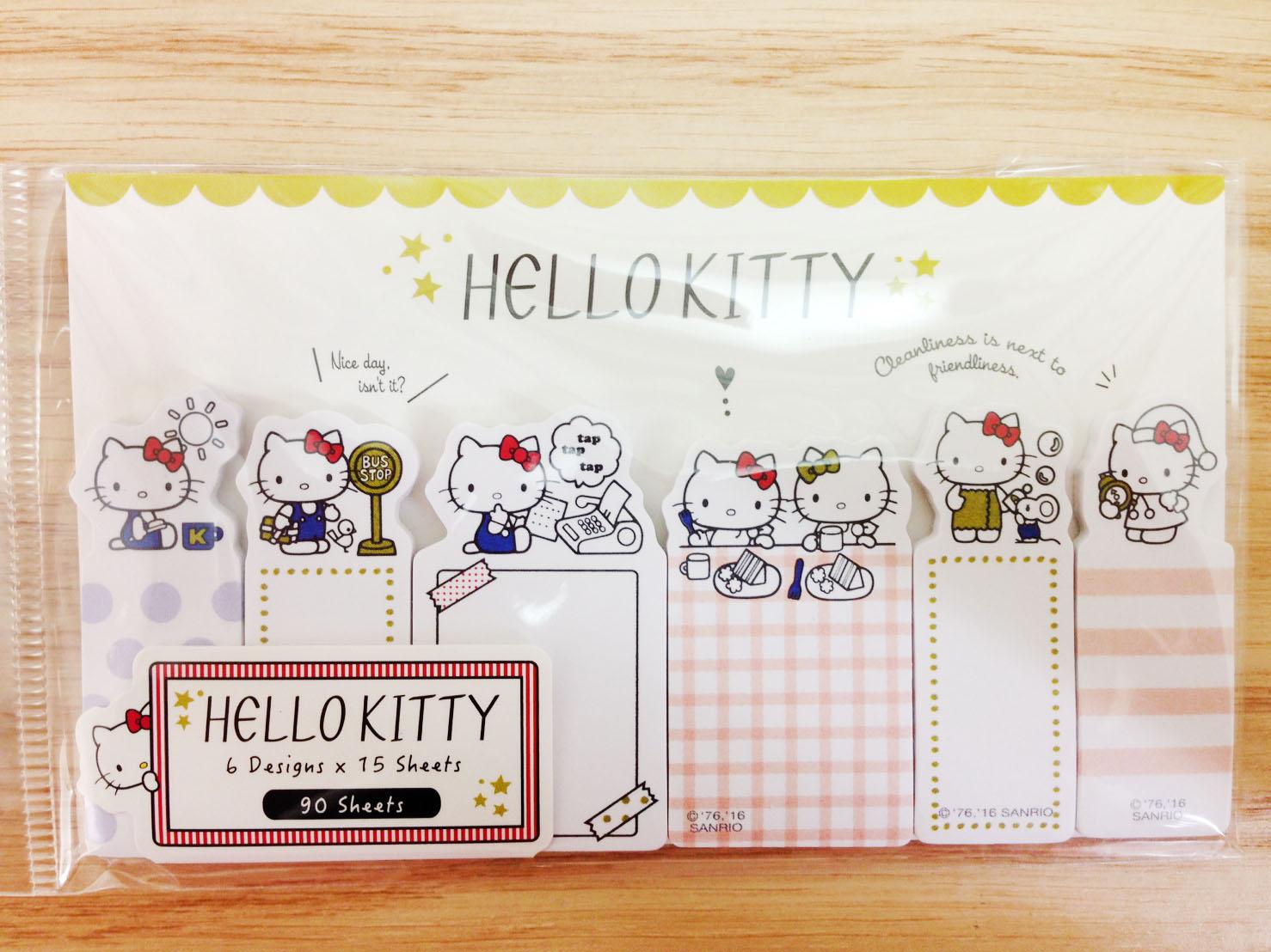 【真愛日本】16060800028自黏便箋-打字機  三麗鷗 Hello Kitty 凱蒂貓  文具 標籤紙 造型標籤