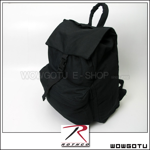 【ROTHCO 】2369 BLACK CANVAS DAY PACK - W推薦!!
