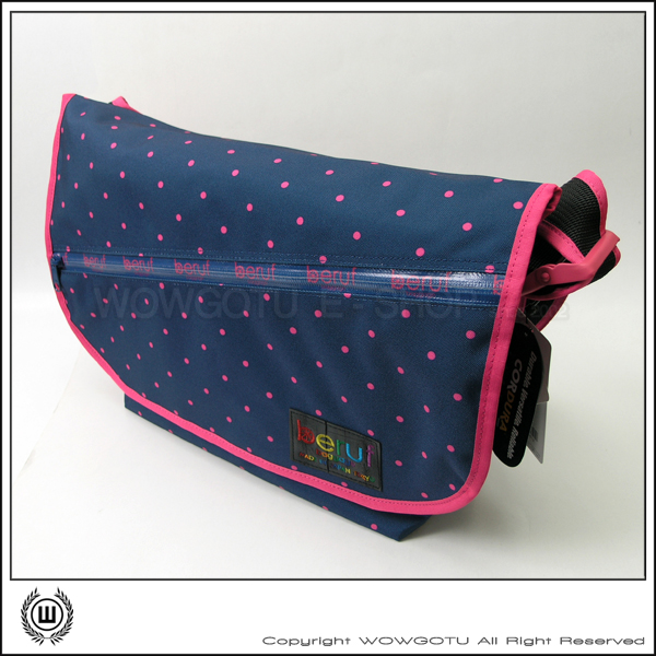 【 BERUF 】DOT Collection .日本完售款式 Messenger Bag - 17M PCD 藍 - 好評發售中
