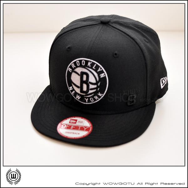 美國品牌 New Era - NBA New York Brooklyn Nets 籃網隊 #8 Willams SNAPBACK 帽款 - 全黑款
