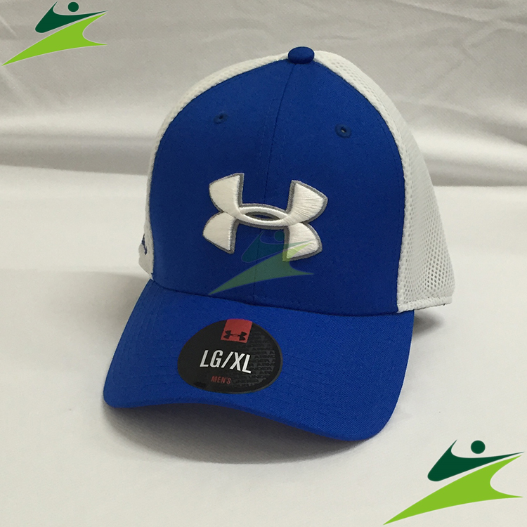 元禾)) UNDER ARMOUR 男 Mesh STR2.0高爾夫球帽 青藍/白 1273280-907