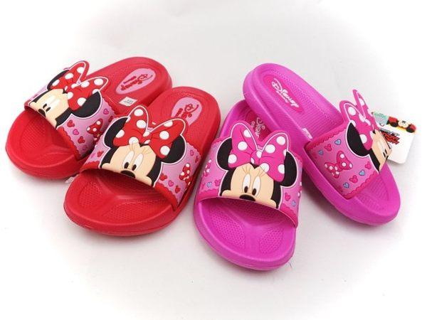 EMMA商城~正版 Disney迪士尼兒童輕量大蝴蝶結米妮防水拖鞋24-29號童鞋