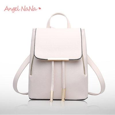 後背包。AngelNaNa韓版 簡約 十字紋 百搭 女雙肩包【B155】