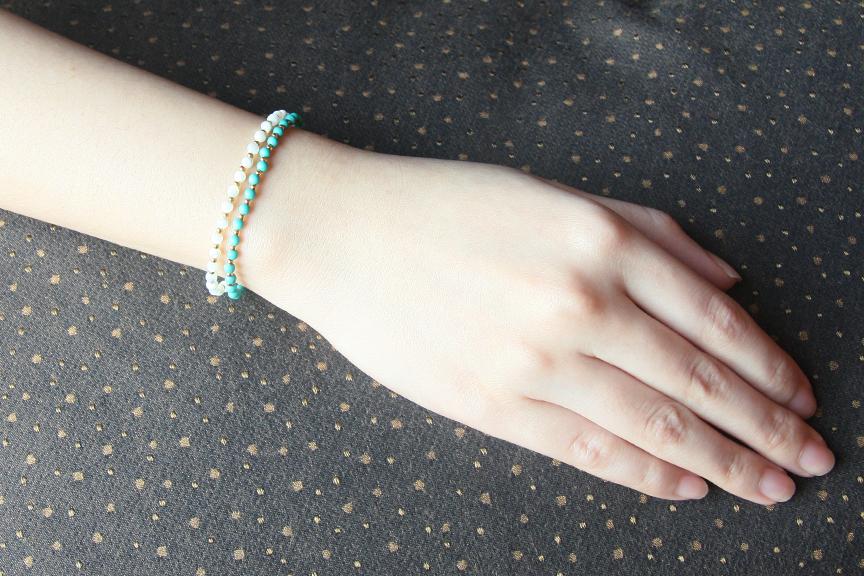 綠松石 (土耳其石) 925銀手鍊,DeeDee Jewellery 12月誕生石,生日石,生日禮物