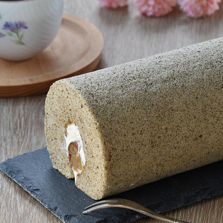 [ 奈良桜手作りベーカリー ]  伯爵紅茶栗子生乳捲  長20cm  寬8cm  高6.5cm