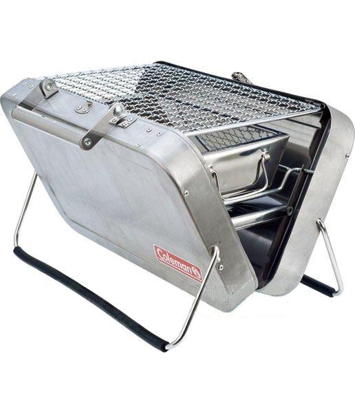 【露營趣】中和 美國 Coleman 極致品味 公事包烤肉箱 桌上型烤肉架 行動燒烤箱 不銹鋼烤肉爐 烤肉架 BBQ CM-9308