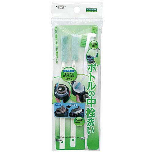 『日本代購品』MAMEITA 保溫杯蓋清洗刷 中栓專用刷 保溫杯專用間隙刷 3支一套 日本製