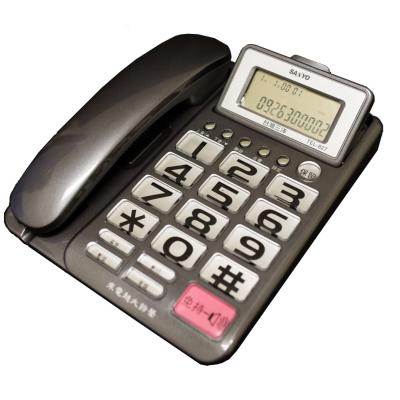 【純米小舖】SANYO 三洋 可調式超大螢幕、超大字鍵有線電話機 TEL-827(三色可選)-灰色