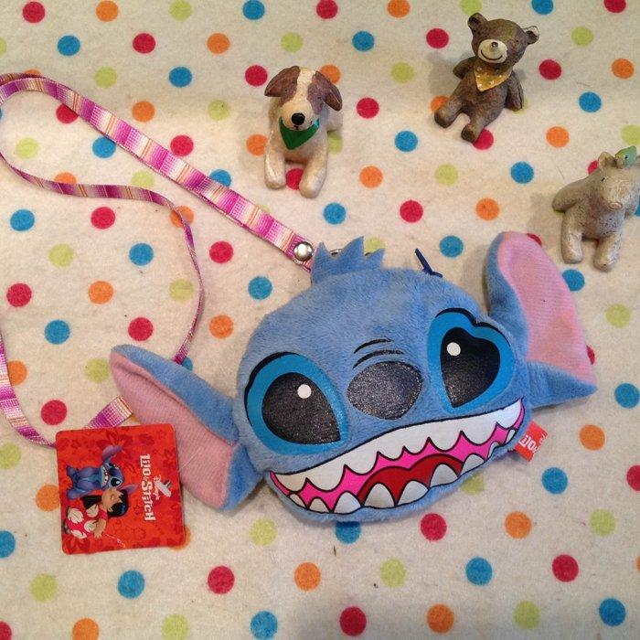 =優生活=【現貨出清】迪士尼星際寶貝史迪奇背式卡套 零錢包 小錢包 收納包 悠遊卡套