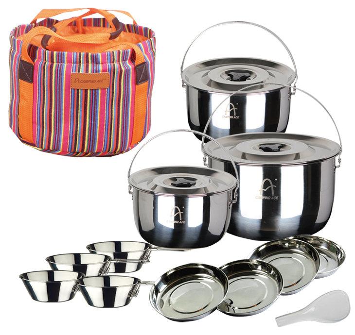 日野戶外~ 野樂 ARC-159 5~6 野樂露營提鍋組 套鍋組 餐盤 碗盤 湯鍋 野餐 露營 鍋具