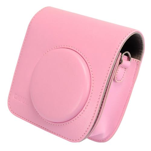 【拍立得配件】Fujifilm instax Mini25 加蓋皮質相機包(粉色) 富士 Kamera 相機殼 相機套 皮套