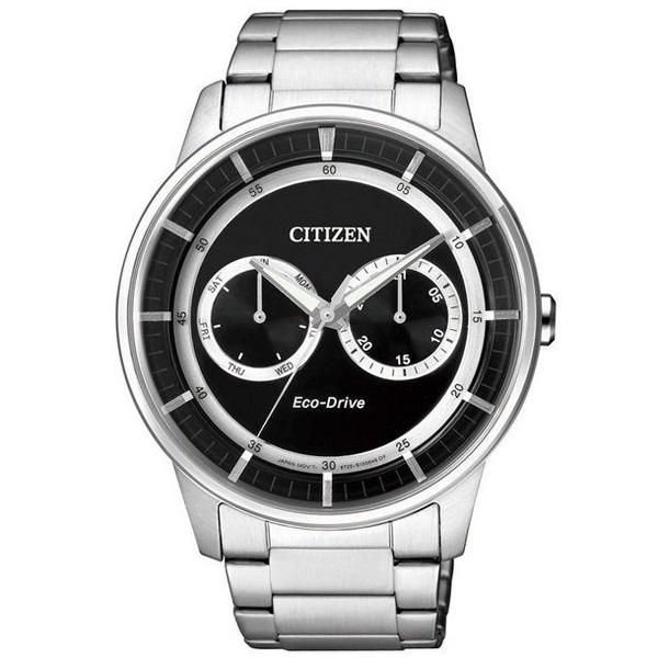 CITIZEN星辰BU4000-50E特色雙眼光動能腕錶/黑面42mm