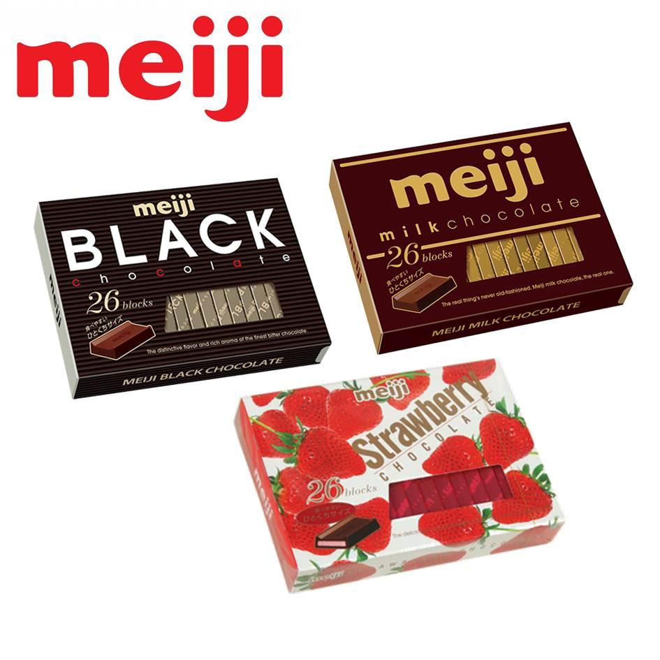 Meiji明治巧克力26枚(牛奶/草莓/黑巧克力)-三種口味