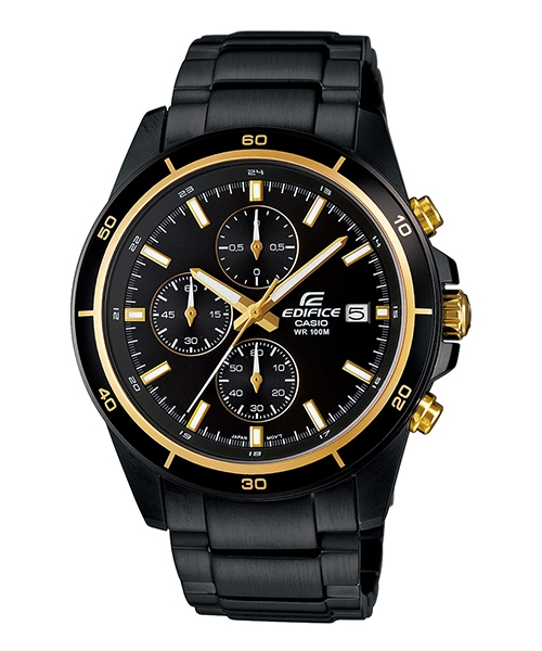 CASIO EDIFICE EFR-526BK-1A9黑騎士(黃)流行時尚腕錶/黑面44mm